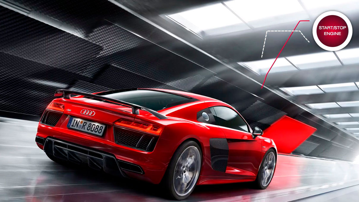 SEO Сайт Audi RS разработанный студией Clock creative lab