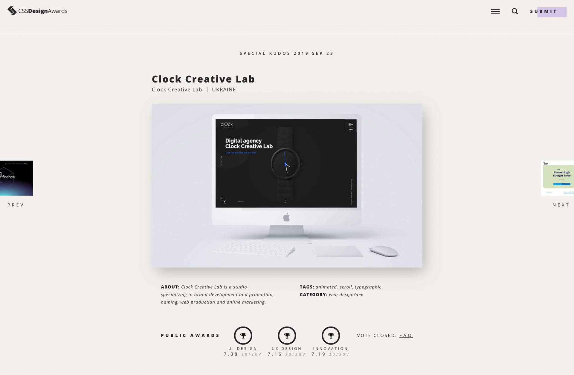 Clock Creative Lab high marks CCS Design Awards