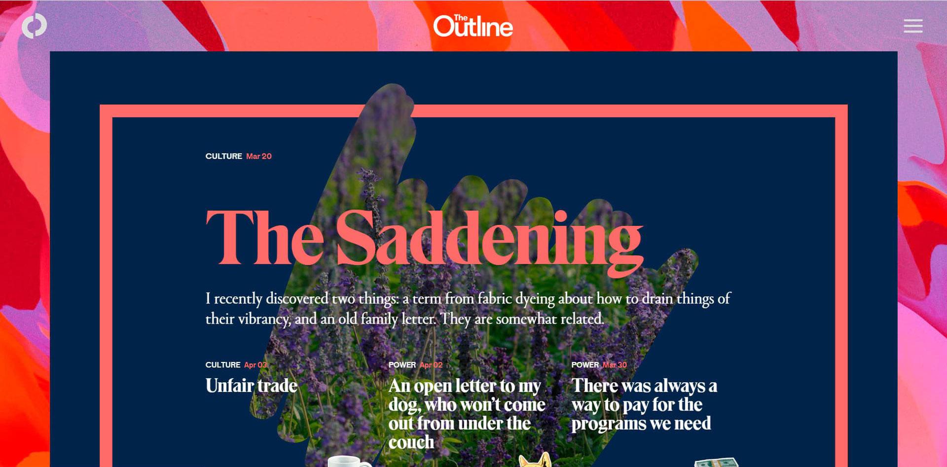 Контрастная типографика на сайте