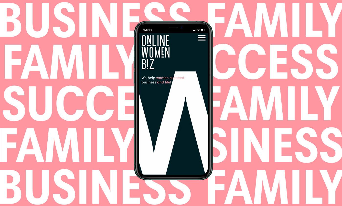 Website Development Online Women Biz - Clock Creative Lab