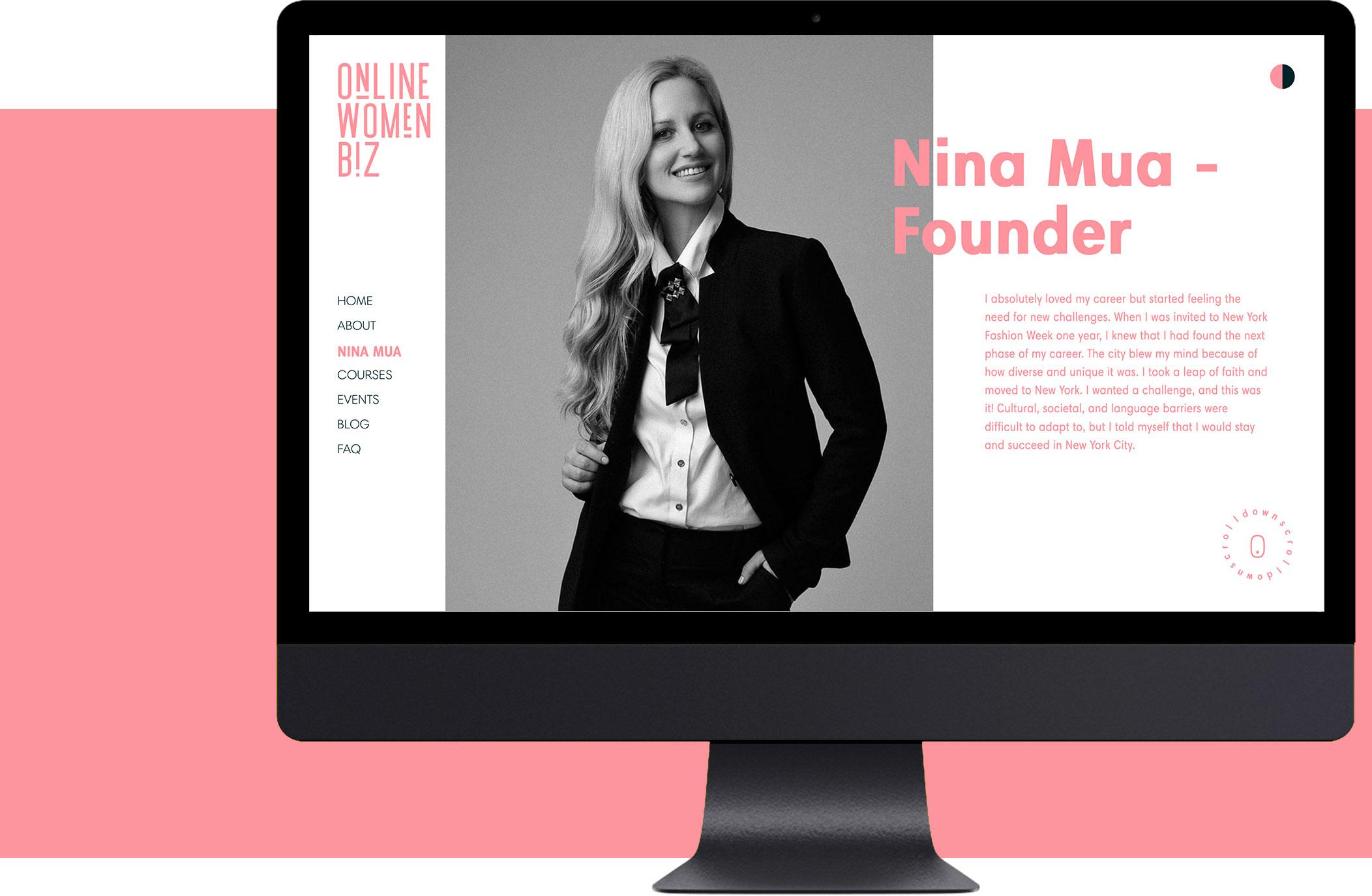 Разработка веб–сайта Online Women Biz