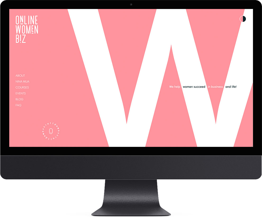 Дизайн Online Women Biz